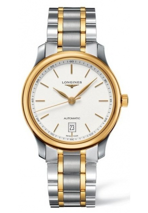 THE LONGINES MASTER COLLECTION STAINLESS STEEL/GOLD CAP 200 AUTOMATIC L2.628.5.12.7, 38.50MM