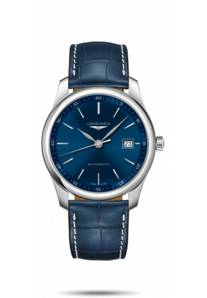 Master Automatic Blue Dial Blue Leather Men's Watch L2.793.4.92.0
