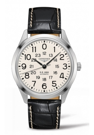 THE LONGINES RAILROAD 40MM AUTOMATIC L28034230