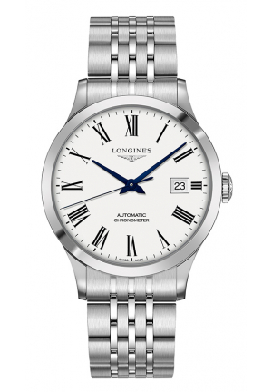 Record Automatic White Dial Men's Watch L28214116
