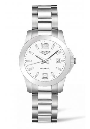 LONGINES CONQUEST STAINLESS STEEL L33774166, 34MM