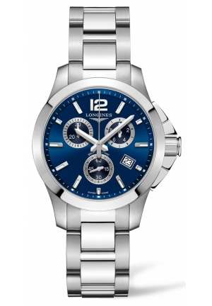 CONQUEST BLUE DIAL CHRONOGRAPH L33794966, 36MM