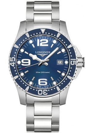 HYDROCONQUEST 41MM BLUE DIAL DIVING WATCH L37404966, 41MM
