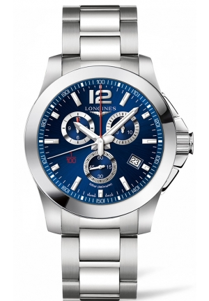 CONQUEST BLUE DIAL CHRONOGRAPH L38004966, 44MM
