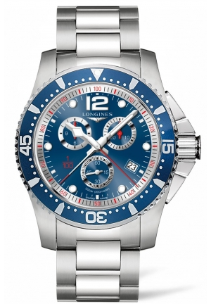 HYDROCONQUEST BLUE DIAL CHRONOGRAPH L38434966, 47MM
