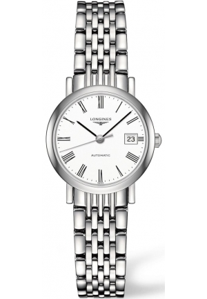 Longines Ladies Elegant Silver Tone Automatic Flagship Watch L4.309.4.11.6