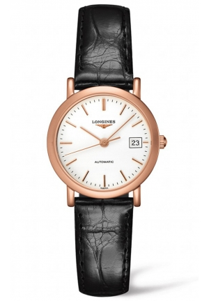 THE LONGINES ELEGANT COLLECTION GOLD 18K AUTOMATIC LADIES WATCH L4.378.8.12.0, 27MM