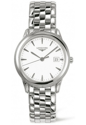 Flagship White Dial Stainless Steel Mens Watch L47164126, 35.4mm