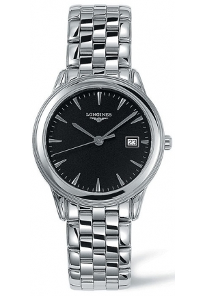 LONGINES Flagship Black Dial Stainless Steel Mens Watch L47164526, 35.4mm