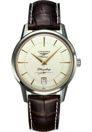 LONGINES L4.795.4.78.2 HERITAGE FLAGSHIP WATCH 38.5MM