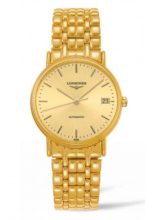 LONGINES PRESENCE PVD AUTOMATIC L48212328, 34.5MM