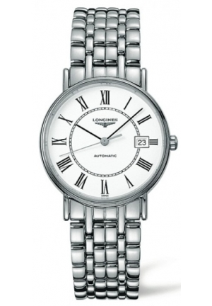 White Dial Automatic Stainless Steel Bracelet Mens Watch L48214116, 34.5mm