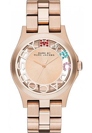 Ladies Rose Gold Henry Skeleton Watch 40mm