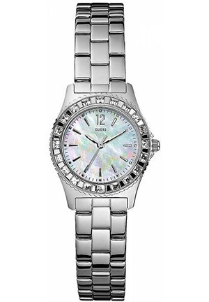 Ladies' Silver Stainless Steel Sport Watch with Crystals 22mm