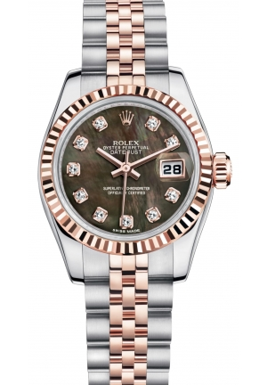 LADY-DATEJUST Oyster steel and Everose gold , 26 mm