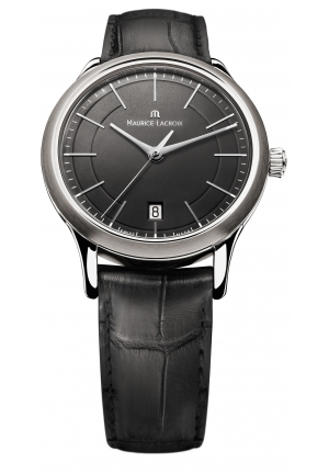 Les Classiques Black Dial Black Leather Men's Watch