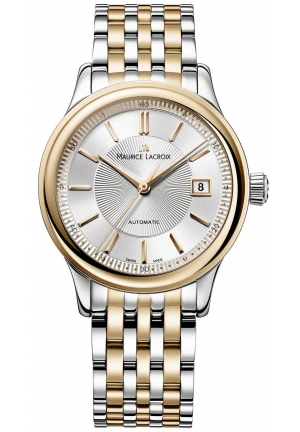 MAURICE LACROIX Les Classiques Silver Dial Men's Automatic Two-tone Steel Watch, 38mm