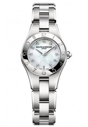 BAUME & MERCIER Linea Mother of Pearl Dial Diamond Ladies Watch 27MM