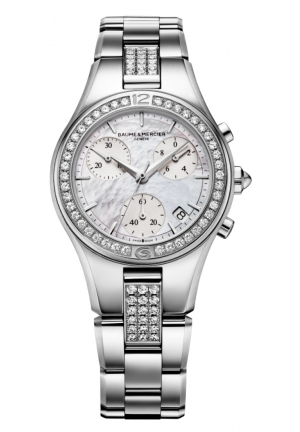 BAUME & MERCIER Linea Mother of Pearl Chronograph Diamond Ladies Watch