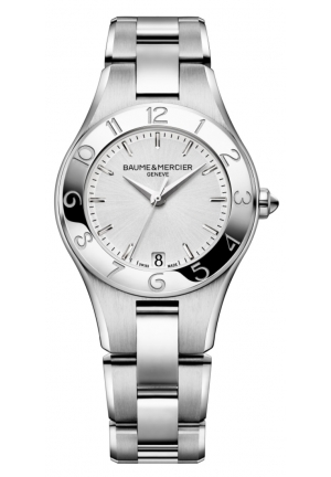 BAUME & MERCIER Silver Dial Stainless Steel Ladies Watch 32mm