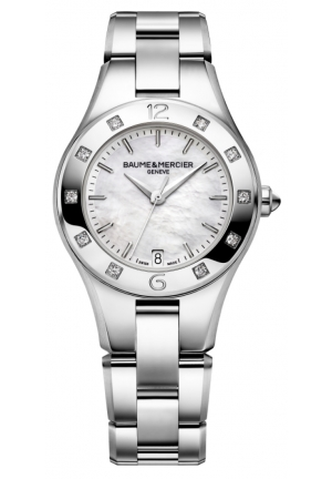 BAUME & MERCIER Linea Mother of Pearl Stainless Steel Diamond Ladies 32mm