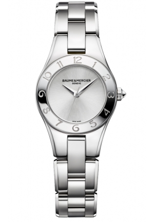 BAUME & MERCIER Linea Silver Dial Stainless Steel Ladies Watch 27MM