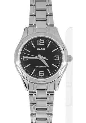 CASIO STANDARD LADIES STANILESS STEEL BLACKDIAL 26MM