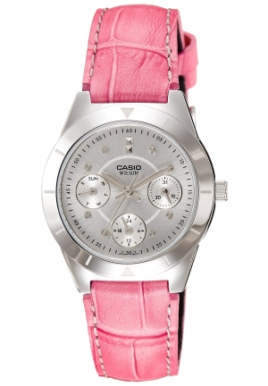 Casio Women's Core Pink Leather Quartz Watch
