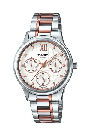 CASIO STANDARD  STANILESS STEEL ROSE GOLD TWO-TONE 38MM