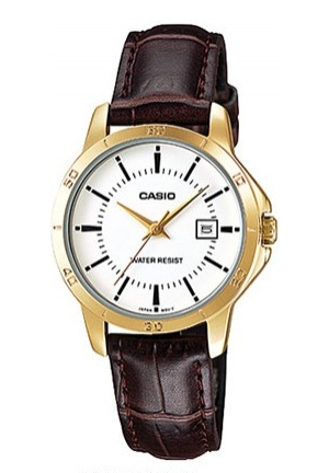 CASIO STANDARD LADIES BROWN LEATHER  20MM