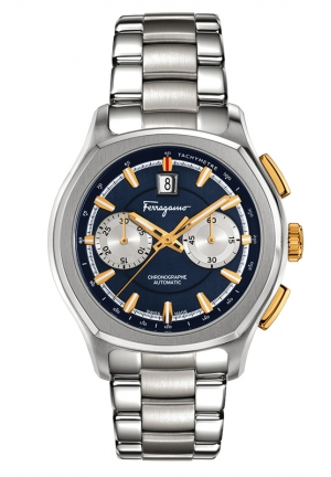 """LUNGARNO"""" Automatic Self-Wind Stainless Steel Watch 44mm"""