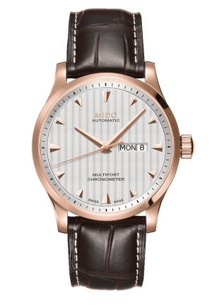 Mido Multifort Automatic Silver Dial Brown Leather Men's Watch M0054313603100