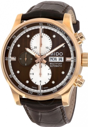 Brown Dial Stainless Steel Case Automatic Movement M0056143629119 44mm