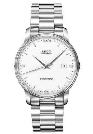 Mido Baroncelli III Automatic White Dial Ladies Watch M010.408.11.011.00 39mm