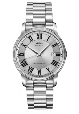 Mido Baroncelli III Automatic Analog Silver Dial Men's Watch M0104081103309 39mm