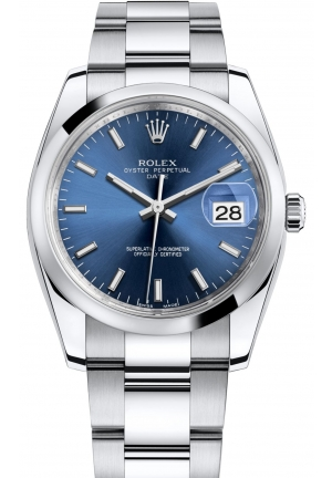 OYSTER PERPETUAL DATE steel , M115200-0007 34 mm