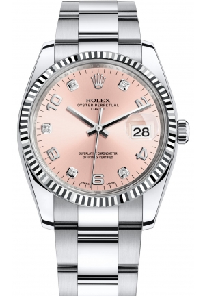OYSTER PERPETUAL DATE steel and white gold , M115234-0009 34 mm
