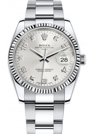OYSTER PERPETUAL DATE Oyster steel and white gold , M115234-0012 34 mm