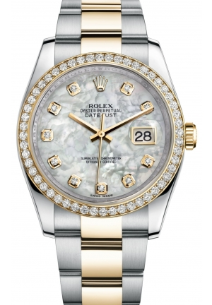 DATEJUST Oyster steel, yellow gold and diamonds , M116243-0027 36 mm