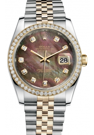 DATEJUST Oyster steel, yellow gold and diamonds , M116243-0036 36 mm