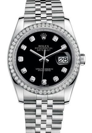DATEJUST Oyster steel, white gold and diamonds , M116244-0014 36 mm
