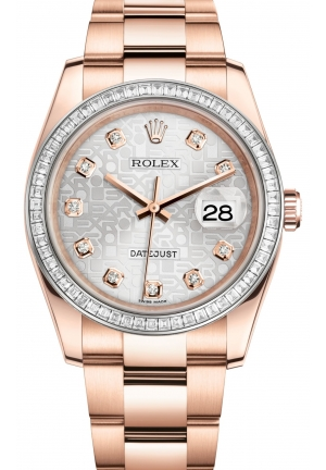 DATEJUST Oyster Everose gold and diamonds , M116285BBR-0008 36 mm
