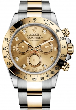 COSMOGRAPH DAYTONA Oyster steel and yellow gold , M116523-0055 40 mm