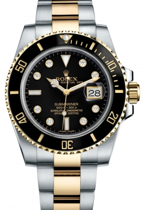SUBMARINER DATE Oyster steel and yellow gold , M116613LN-0003 40 mm
