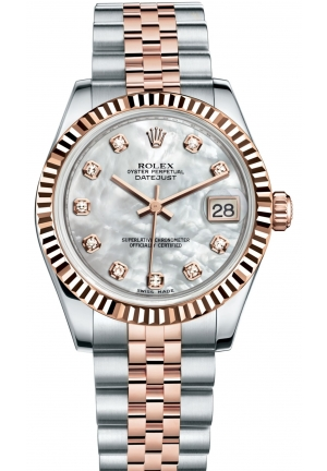 DATEJUST LADY 31 Oyster steel and Everose gold , M178271-0060 31 mm