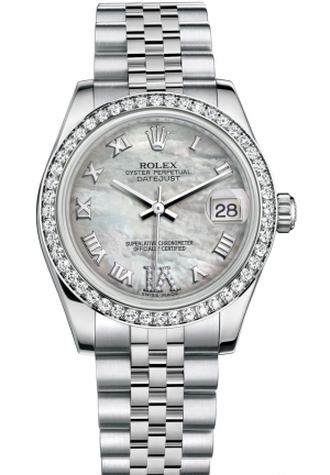 DATEJUST LADY 31 Oyster steel, white gold and diamonds , M178384-0040 31 mm