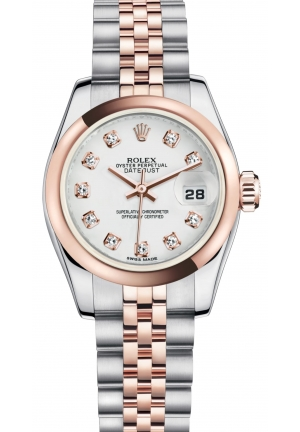 LADY-DATEJUST Oyster steel and Everose gold, M179161-0033 26 mm