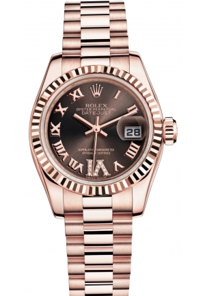 LADY-DATEJUST Oyster Everose gold , M179175F-0034 26 mm