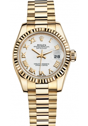 LADY-DATEJUST Oyster yellow gold , M179178-0247 26 mm