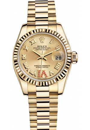 LADY-DATEJUST Oyster yellow gold , M179178-0261 26 mm